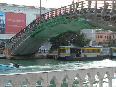 Ponte Dell'Accademia With The Accademia Vaporetto Station