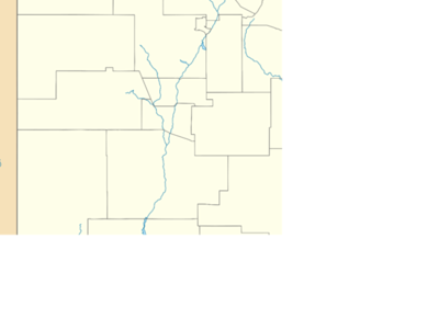 A Map Displaying Antelope Wells In Extreme Southern New Mexico