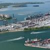 Ariel View Of Port Miami