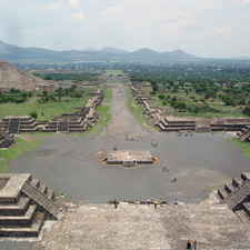 Avenue Of The Dead And The Pyramid Of The Sun