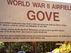 Airfield  Gove  World  War  I I Sign