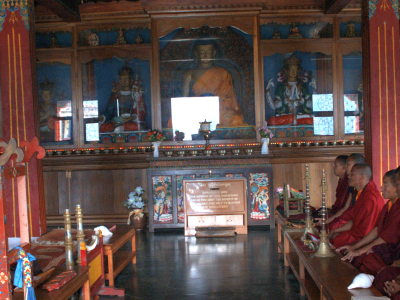 Buddhist Monestry In Lava
