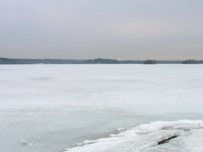 Lake Bodom In Winter
