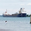 Canadian Freighter Algorail In St.Clair River