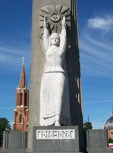 Freedom Monument In Rokiskis