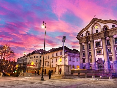 Congress Square & Ursuline Church - Ljubljana