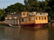 Cruise Barge At Bagan