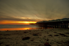 The Crystal Pier At Sunset