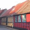 Street With Old Houses In Kerteminde