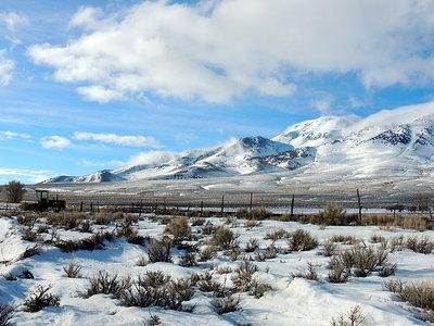 Diamond Mountains In Winter
