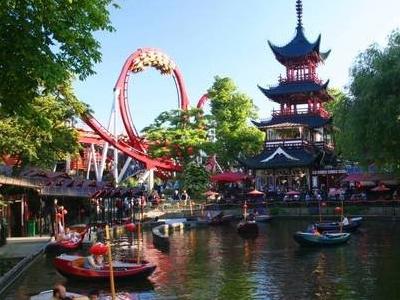 Dragon Boat Lake And Dæmonen Roller Coaster
