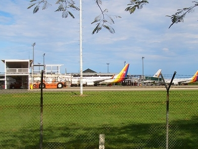 Side View Of The Airport