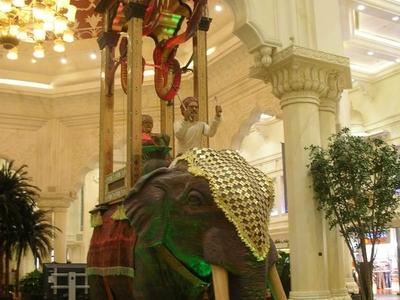 The Reproduction Elephant Clock In The Ibn Battuta Mall.