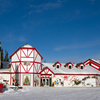 Festive Santa Claus House At North Pole