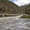 South Esk River In Flood At The Gorge