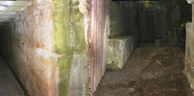 A Tunnel Leading To The Former Officers Residence