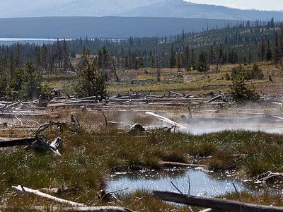 Heart Lake Geyser - Yellowstone - USA