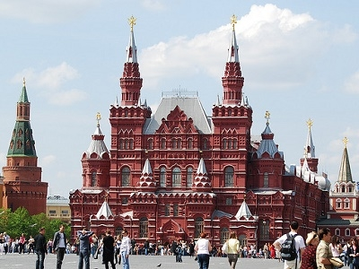 Historic Red Square In Moscow
