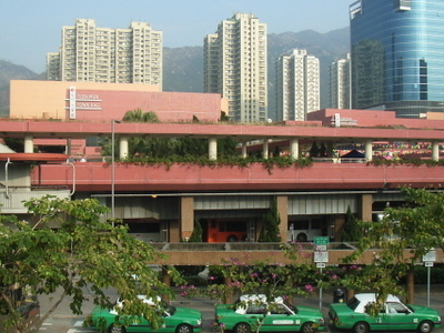 Tuen  Mun  Cultural  Square And Green Taxi Stop