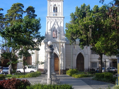 Church And Plaza \\\'Del Llano\\\'