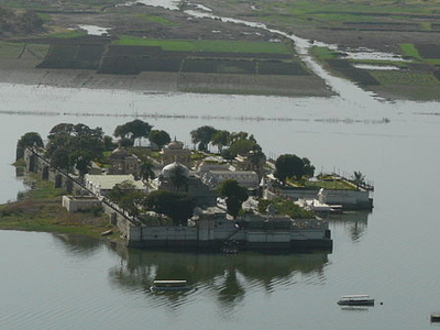 Jag Mandir Palace From Above