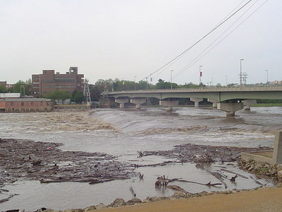 Kansas River Showing Bowersock Dam