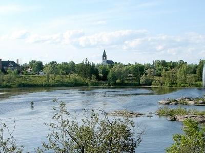 Kapuskasing As Seen Across The Kapuskasing River