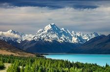Lake Pukaki With Mount Cook