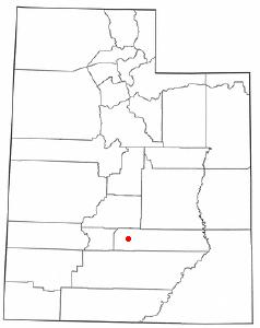 Location Of Bicknell Utah