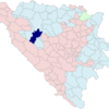 Location Of Mrkonji Grad Within Bosnia And Herzegovina