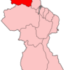 Map Of Guyana Showing Barima Waini Region