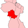 Map Of Guyana Showing Potaro Siparuni Region