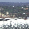 Stadium Viewed From A City Building