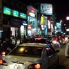 M G Road At Night