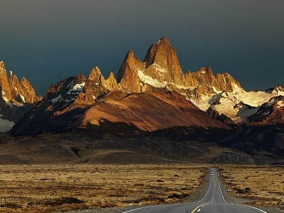 Monte Fitz Roy At Sunrise