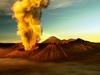 Mount Bromo Erupting - East Java