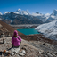 Mount Everest And Gokyo Lake From Renjo Pass Nepal