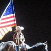 Rider With The American Flag