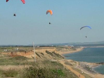 Paragliding At Barton On Sea