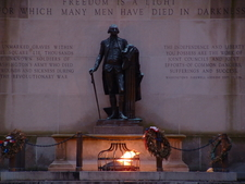 The Tomb Of The Unknown Revolutionary War Soldier At Dusk