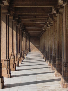 Pillars In Periphery Of Jama Masjid