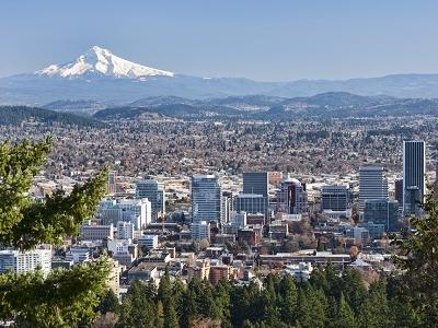 Portland With Mount Hood OR