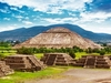 Pyramids Of Sun & Moon In Teotihuacan