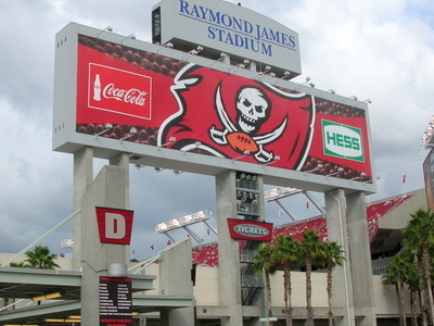 Main Entrance With Super Bowl XLIII Banner