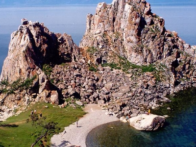 Rock Of Lake Baikal