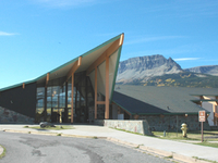 Saint Mary Visitor Center, Entrance and Checking Stations