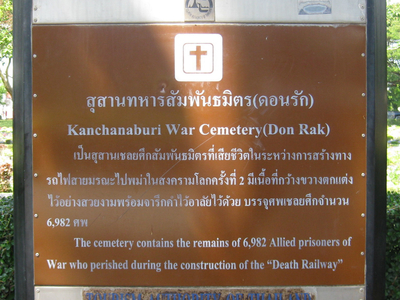 Sign Giving Both Names And Number Of Interments
