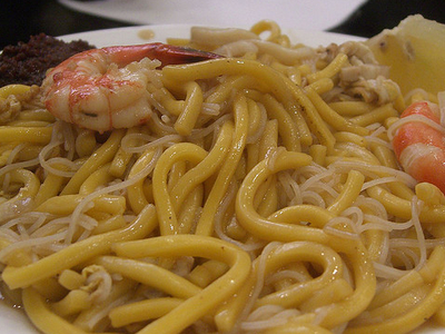 Singapore Fried Prawn Noodles