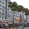 Skylines In Foinikoudes Avenue In City Of Larnaca Republic O