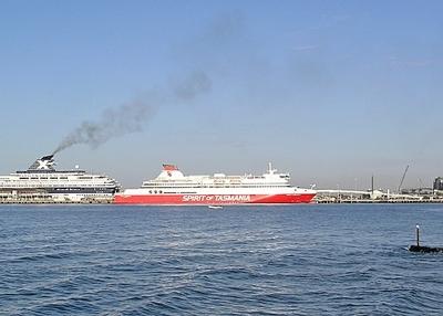 Bass Strait Ferry Spirit Of Tasmania II At Station Pier